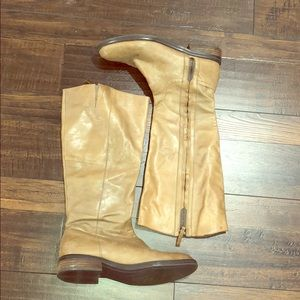 Enzo Angiolini Leather Taupe Riding Boots